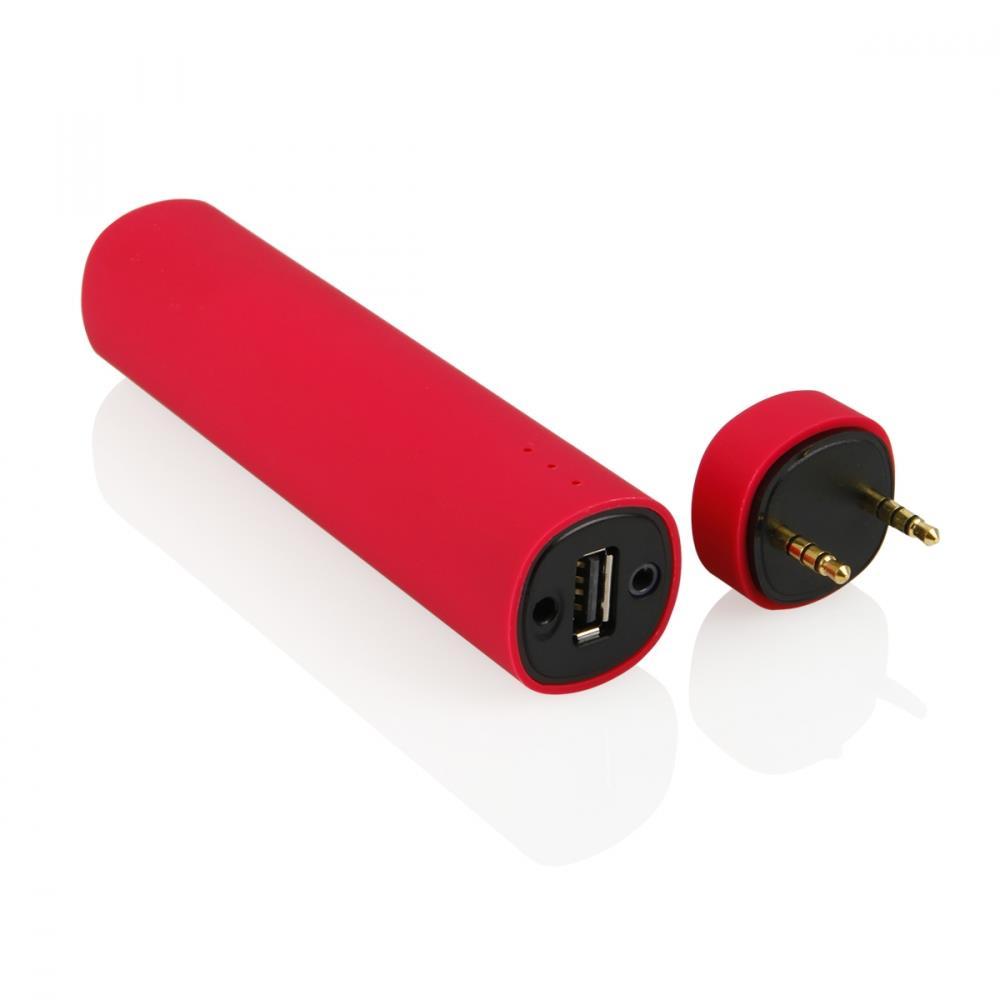 GT BY03 externí baterie 4000mAh + mini reproduktor, červená