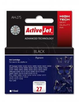 Inkoustová kazeta ActiveJet AH-27S | černá | 15 ml | HP HP 27 C8727A