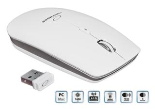 Esperanza EM120W SATURN bezdrátová optická myš pro PC/MAC, 1600 DPI, 2.4GHz, USB