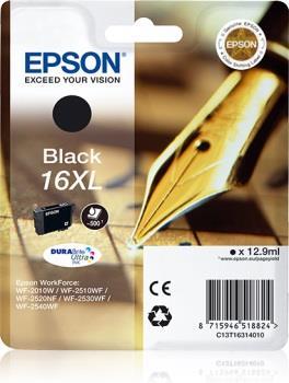 Inkoust Epson T1631 XL black DURABrite | 12,9 ml | WF-2010/25x0