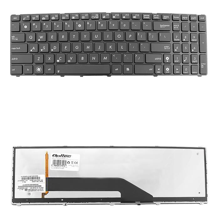 Qoltec Klávesnice pro notebook Asus K50 BLACK FRAME (podsvícená)