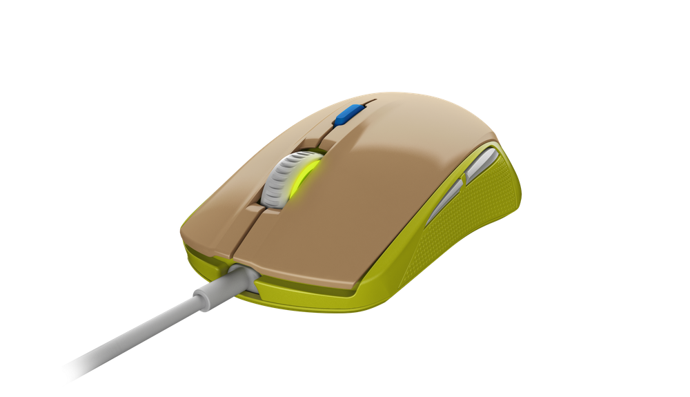 Gaming mouse SteelSeries Rival 100 Gaia Green
