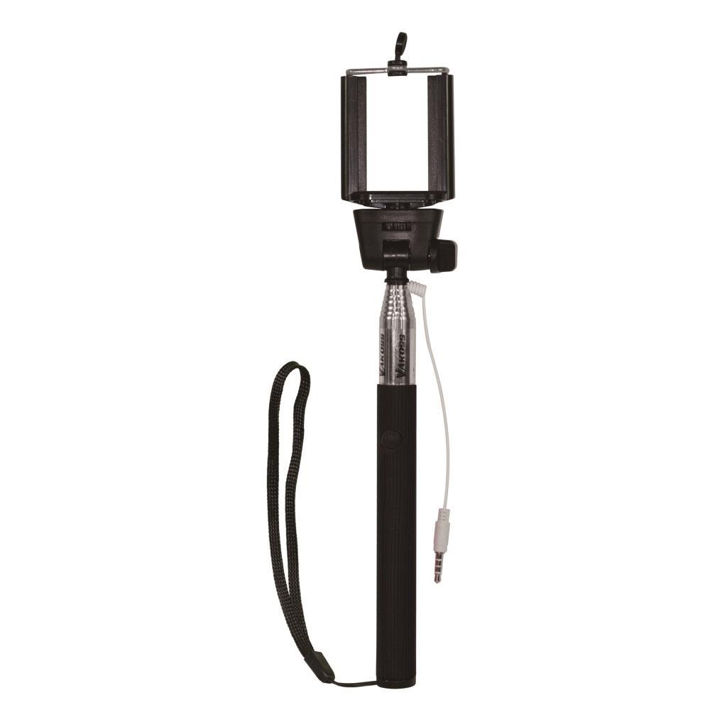 VAKOSS monopod na SELFIE s kabelem minijack 3,5mm ST-1615K černý