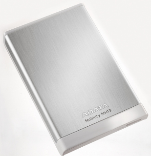ADATA NH13 500GB 2.5'' externí HDD, USB 3.0, 5400RPM, 107MB/s, hliníkový, stříbr