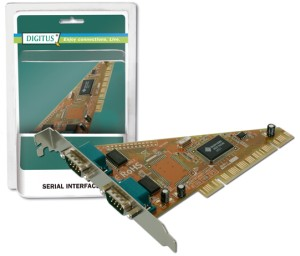 Digitus adaptér PCI 2x sériový port, 2 X DB9 M , Slot Bracket SUN1989 chipset