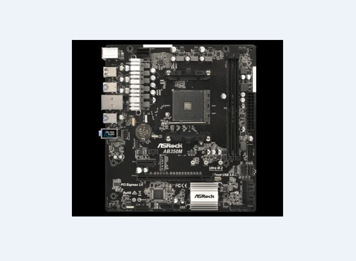 ASRock AB350M, AM4, 4xSATA3, DDR4 3200, USB 3.0