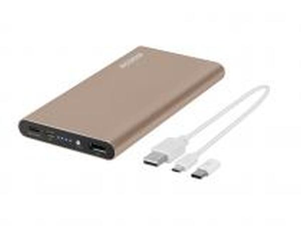 AVACOM externí baterie PRISMA AL-10, Li-Pol 10000mAh, USB-C, QC vstup a výstup, zlatá