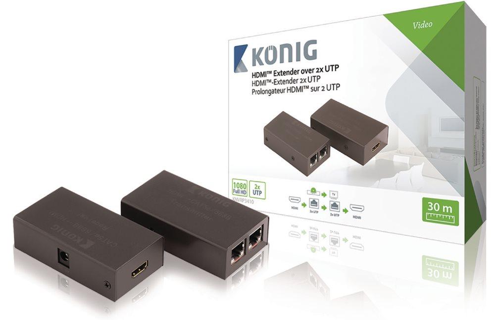König KNVRP3410 - zesilovač HDMI, 30m přes UTP Cat5