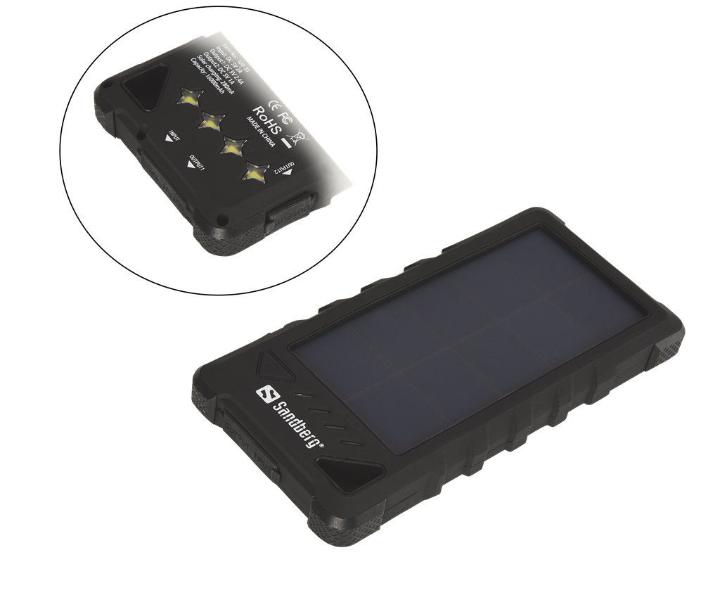 Sandberg Outdoor Solar Powerbank 16000mAh externí baterie, IP67