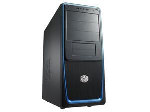 CoolerMaster case miditower Elite 311,ATX,black-blue, bez zdroje