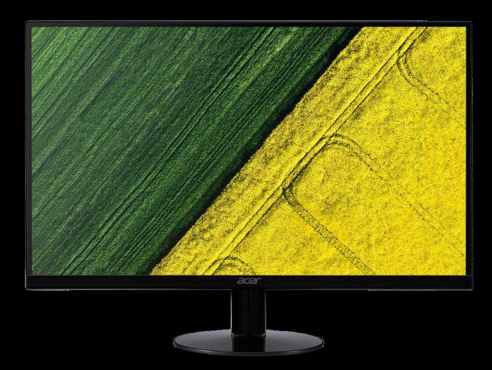 Acer LCD SA270bid 27'' IPS LED/1920x1080/100M:1/4ms/250nits/VGA/DVI/HDMI/Acer EcoDisplay/Black