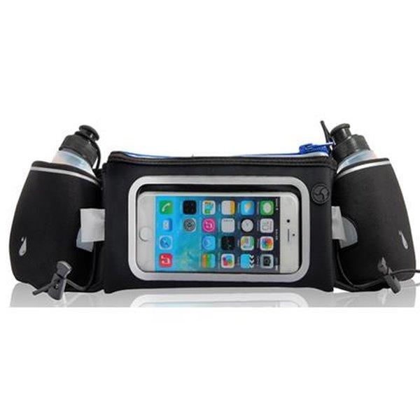 PLATINET pás k běhání s oknem pro smartphone a dvěma lahemi na vodu