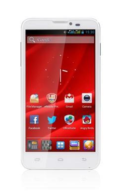 "PRESTIGIO MultiPhone 5307 DUO, 5.3"", Dual SIM, Android 4.1, 4GB, MicroSD slot,3G,GPS,bílý, bazar"
