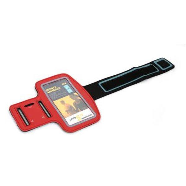 PLATINET sportovní popruh na paži pro smartphone, červený