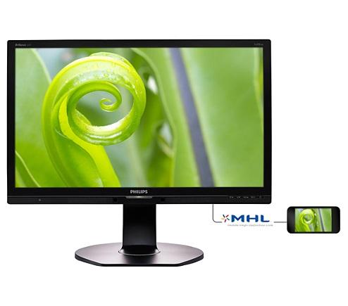"""Philips LCD 241P6EPJEB/00 23,8"""" AH-IPS/1920x1080/20M:1/5ms/250cd/VGA/DVI-D/DP/HDMI (MHL)/4xUSB 3.0+ faster charger/Repro"""