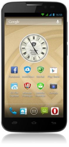"PRESTIGIO MultiPhone 5503 DUO, 5"", Dual SIM, 960x540 IPS, Quad Core 1.3Ghz, 1GB RAM, 8/2Mpx, 4000 mAh, šedý,bazar"