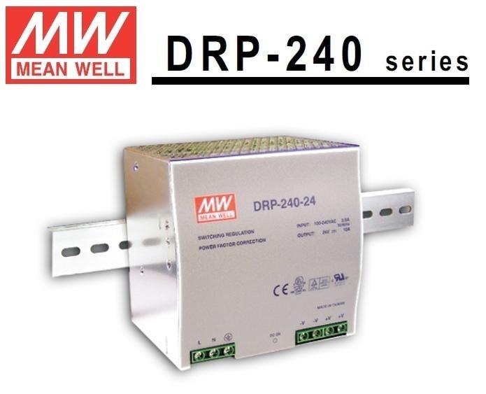 MEANWELL DRP-240-24 Prům. nap. zdroj 24V 10A
