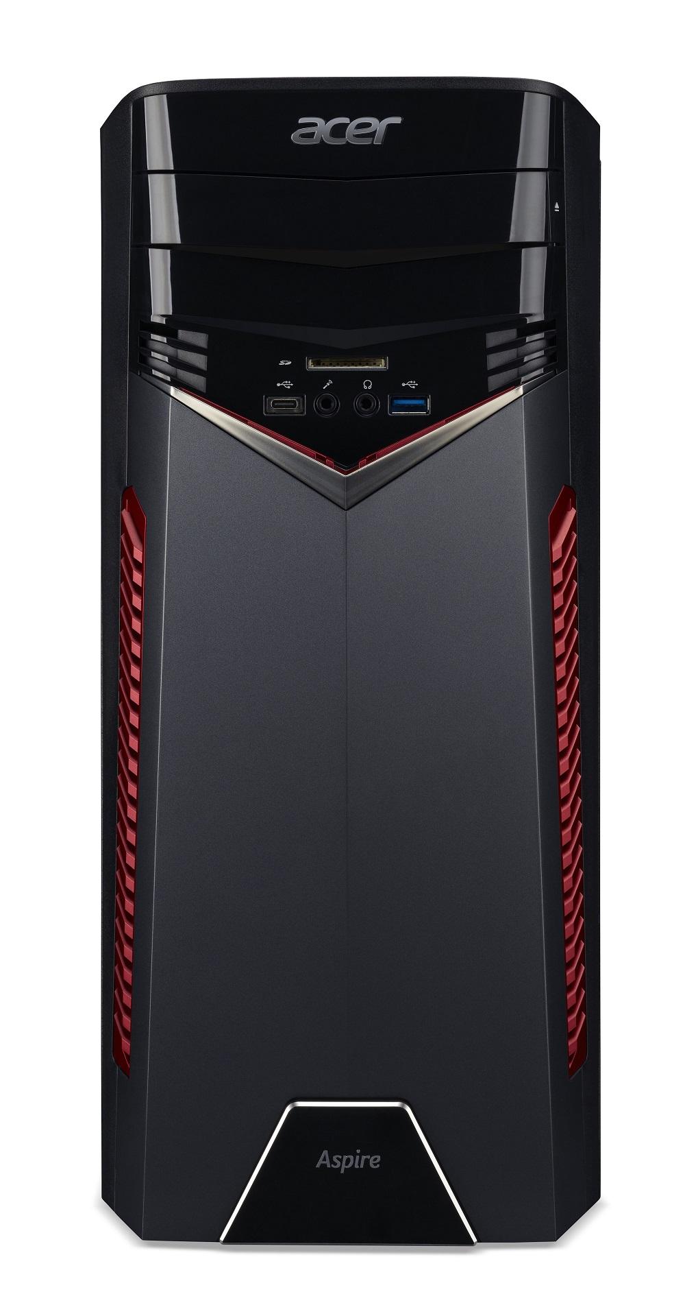Acer Aspire GX-781/i5-7400/8GB/128GB SSD+1TB 7200 ot./GTX 1060 3GB/DVDRW/klávesnice a myš/WiFi 802.11ac/card reader/W10 Home