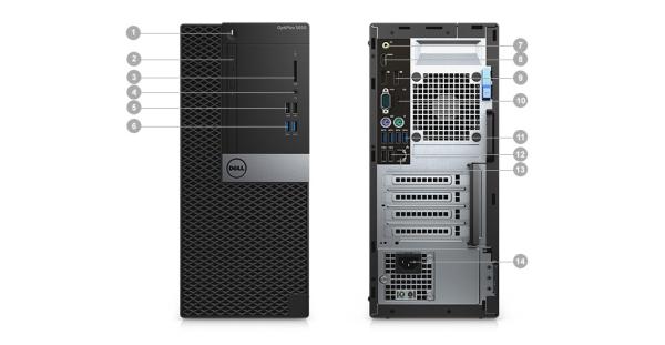 DELL OptiPlex MT 5050 i5-7500/8GB/256GB/IntelHD/DVD RW/Win10 PRO Pro 64bit