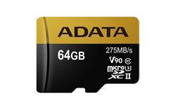 ADATA paměťová karta 64GB Premier One micro SDXC UHS-II U3 CL10 (čtení/zápis: 275/155MB/s)