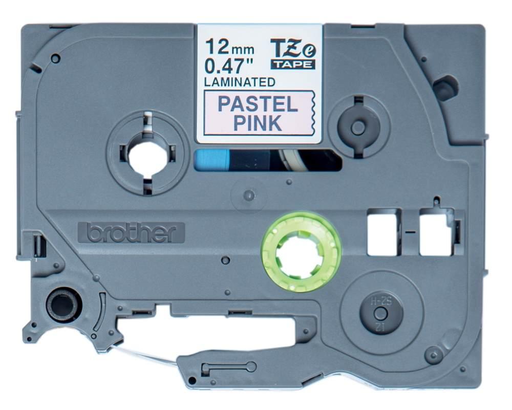 Brother - TZE-MQE31 pastelová růžová / černá (12mm, 4m)