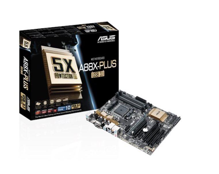 ASUS MB Sc FM2+ A88X-PLUS/USB 3.1, AMD A88X, 4xDDR3, VGA