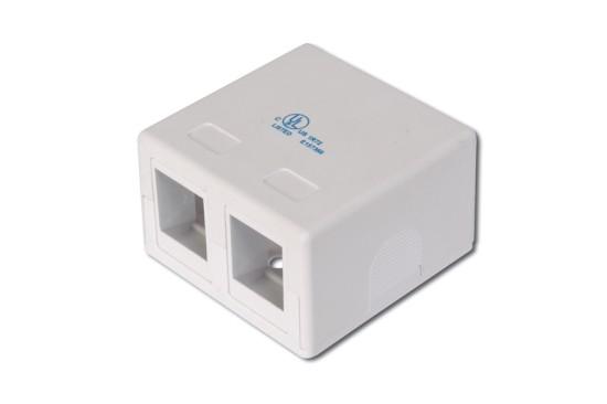 Digitus box na omítku pro 2 keystone, bílý