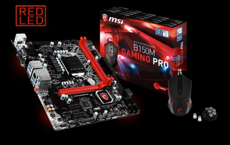 MSI MB Sc LGA1151 B150M GAMING PRO, Intel B150, 2xDDR4, GbLAN, mATX