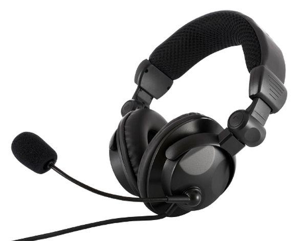 Modecom MC-826 HUNTER headset, herní sluchátka s mikrofonem, černá