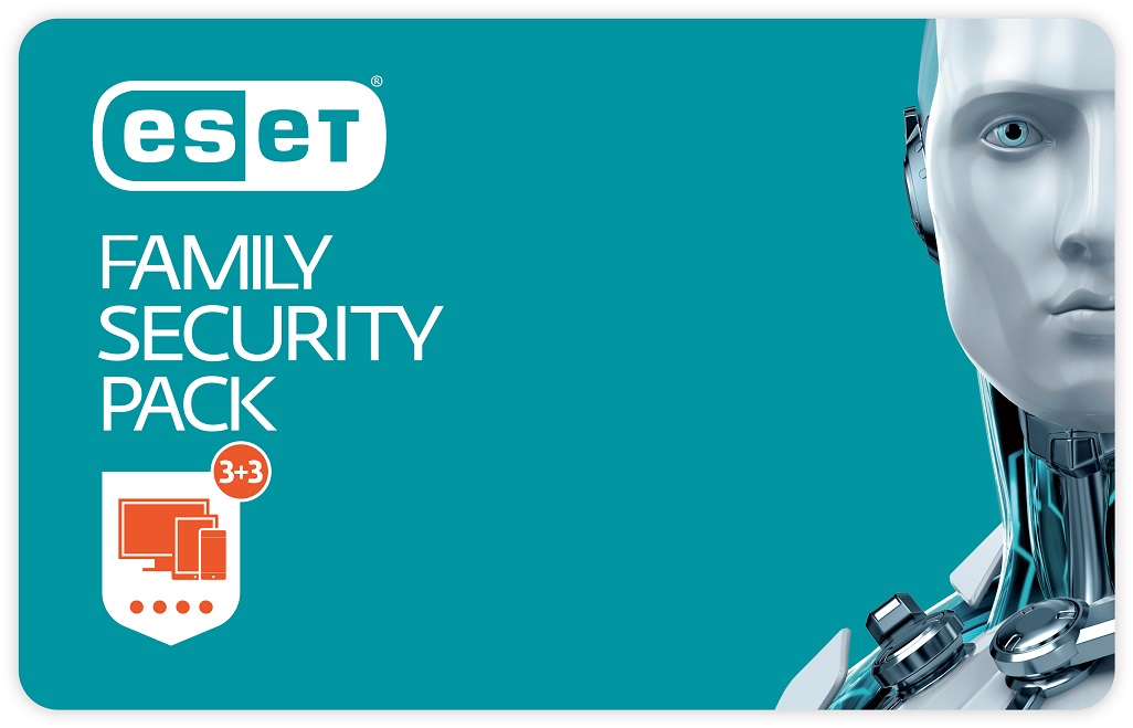 Update ESET Family Security Pack - 3 lic., na 1 rok - elektronicky