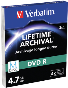 VERBATIM M-Disc DVD R(3-pack)Slim/4x/4.7GB