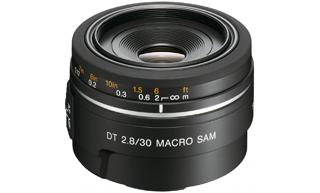 SONY SAL-30M28 - Základní makro objektiv s pevnou ohniskovou vzdáleností 30mm a světelností F2,8