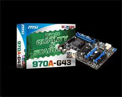 MSI MB 970A-G43/Socket AM3+/DDR3/USB3.1/GLAN/SATA/ATX