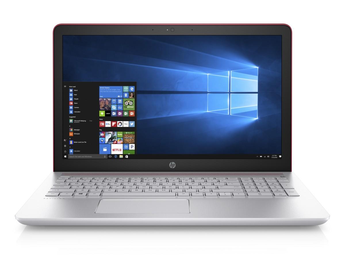 """NTB HP 15-cd012nc 15.6"""" AG SVA FHD WLED,AMD A9-9420 dual,8GB,1TB/5400+128GB SSD,DVDRW,UMA,TPM,Win10 - red"""