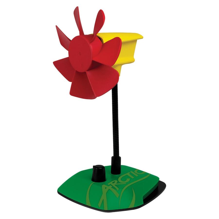ARCTIC Breeze Color Edition RASTA - USB stolní ventilátor, červeno/žluto/zelený