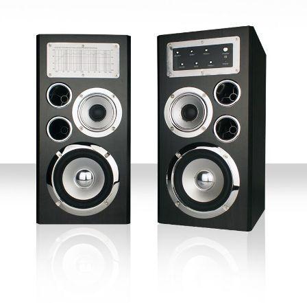 Crono CS-2002 - reproduktory 2.0, 2x 50W, černé