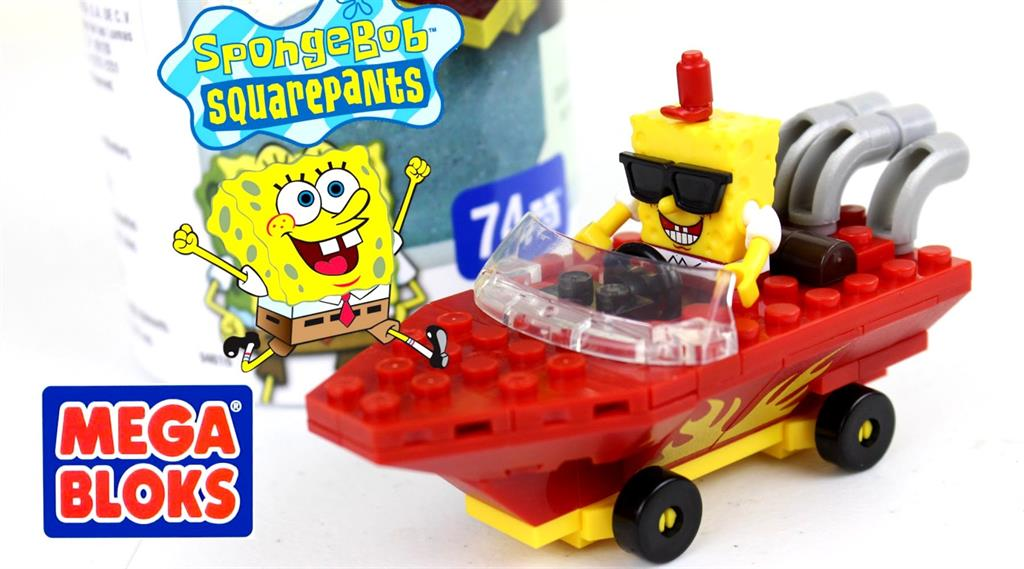 Mega Bloks Spongebob Racer Tube, blocks
