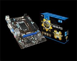 MSI H81M-P33/Intel H81/DDR3/SATA III/USB 3.0/GLAN/VGA/DVI/sc.1150/mATX