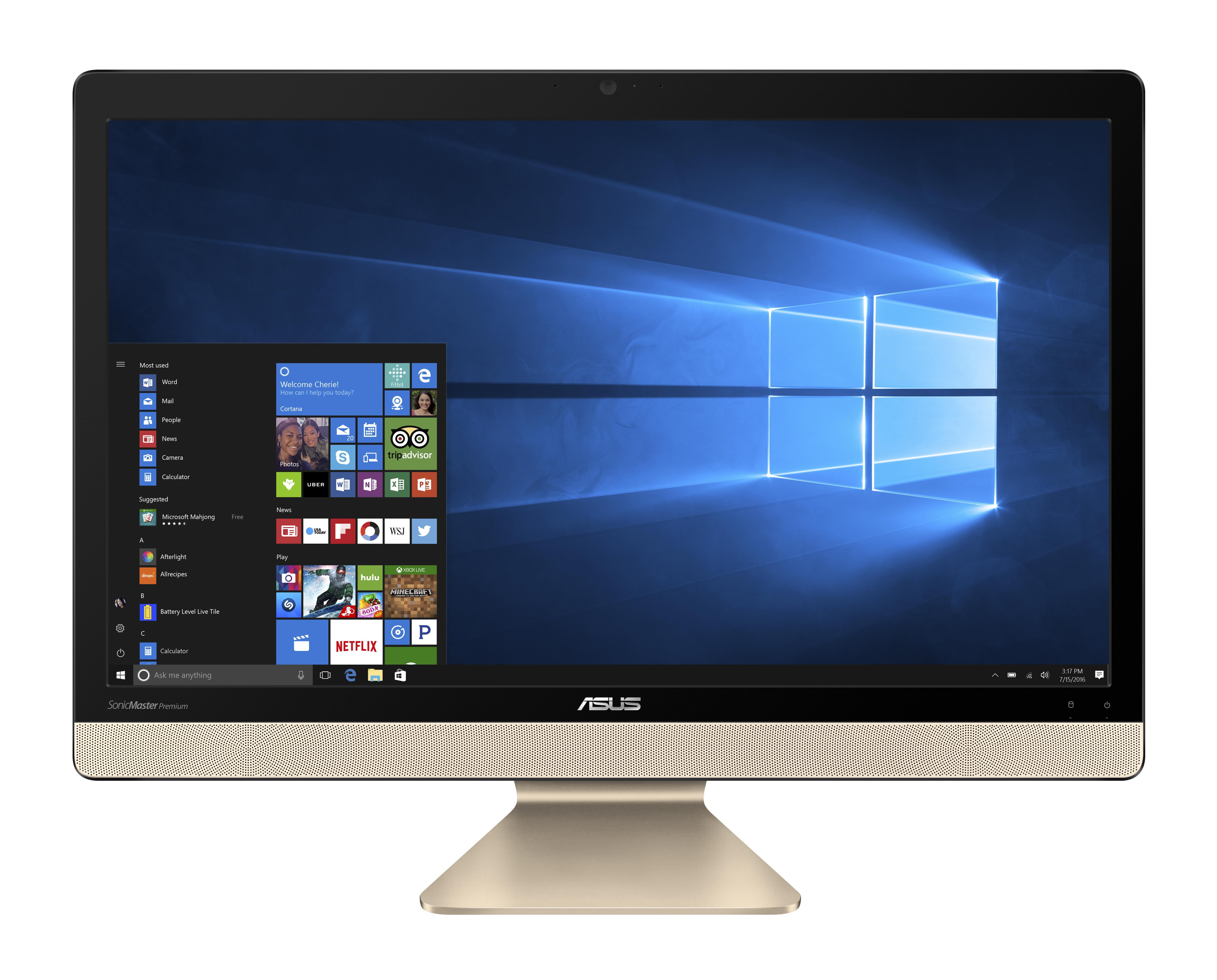 ASUS AIO V221 21,5/i3-7100U/1TB/4G/W10Pro černý