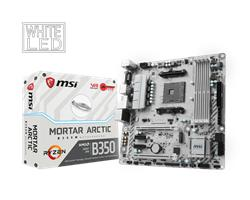 MSI B350M MORTAR ARCTIC/Socket AM4/DDR4/USB3.1/DVI-D/HDMI/DP/8111H/mATX