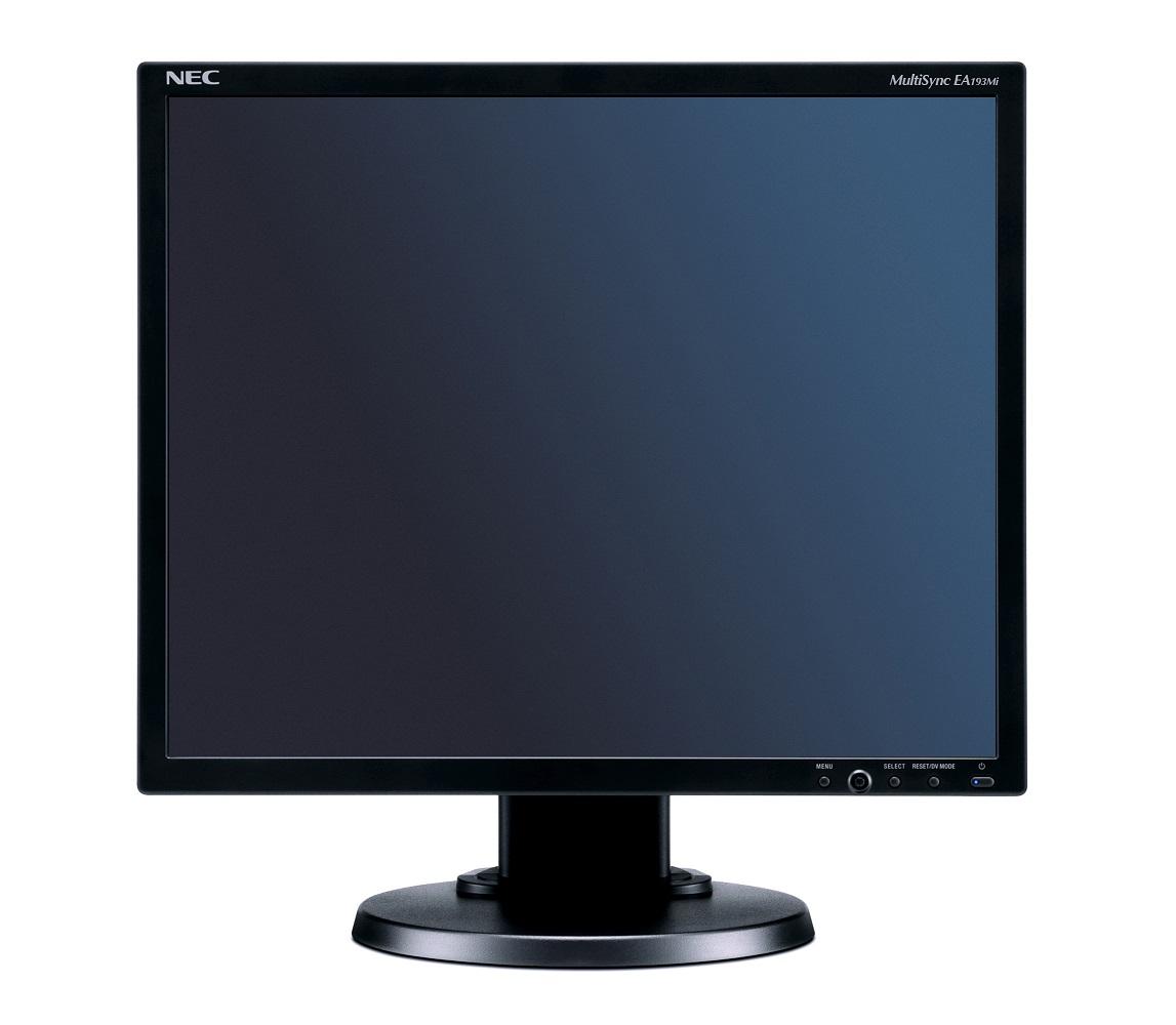 "NEC MT 19"" LCD MuSy EA193Mi B IPS LED,1280x1024/60Hz,6ms,1000:1,250cd,audio,DP+DVI+VGA"