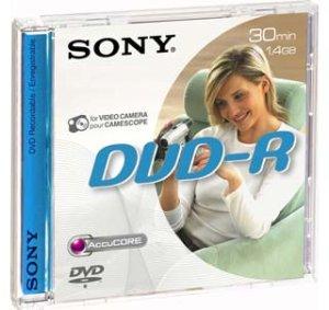 Média DVD-R DMR-30 SONY pro DVD kamery, 8cm