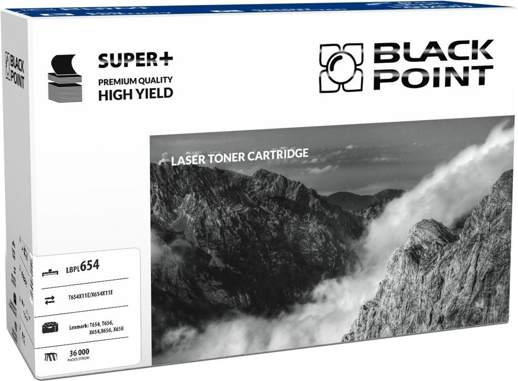 Toner Black Point LBPL654 | black | 36 000 pp | Lexmark T654 / T656 / X652