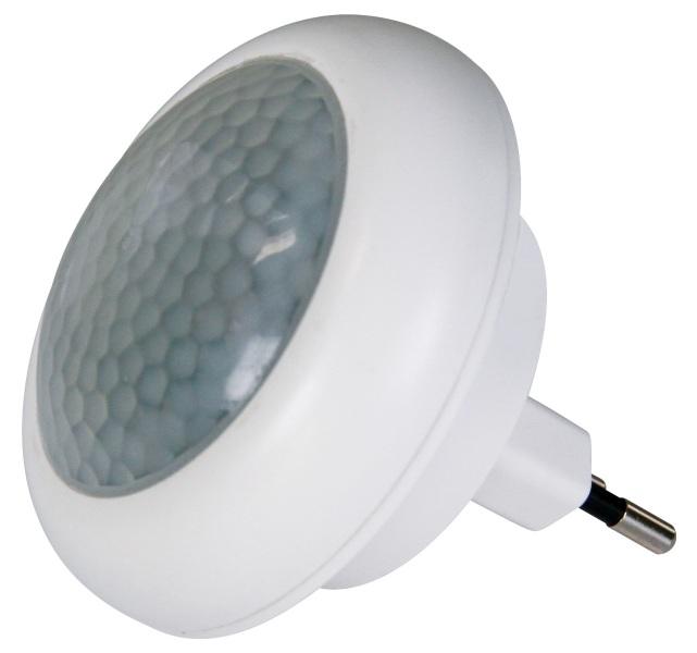Emos LED noční světlo do zásuvky 230V, 8x LED, PIR, s detekcí pohybu