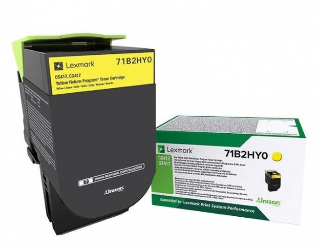 Toner Lexmark yellow return | 3500 pgs | CS/CX4/517