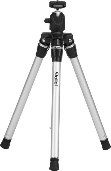 Rollei Stativ S3 Plus/ Zátěž 2,5kg/ Vytažený 127cm/ Stříbrný