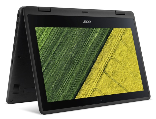 "Acer Spin 1 (SP111-31-C4PV) Celeron N3350/4GB+N/A/eMMC 32GB+N/A/HD Graphics/11.6"" Multi-touch FHD IPS/BT/W10 Home/Black"