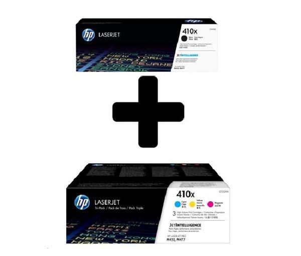 HP 410X 3-pack High Yield CMY + HP 410X Black LJ Toner Cart (CF252XM+CF410X)