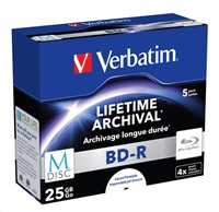 VERBATIM M-Disc BD-R(5-pack)Jewel/4x/25GB