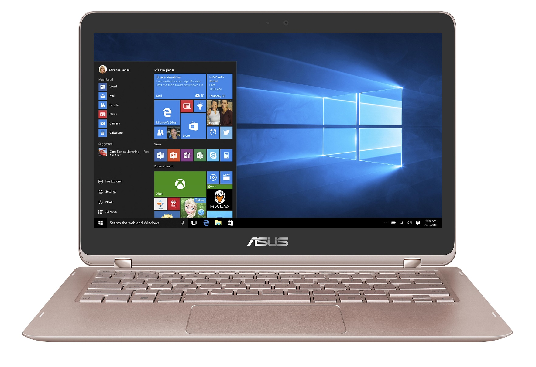 "ASUS UX360UAK-BB398T i5-7200U/8GB/256 GB SSD M.2/HD graphics/13.3"" FHD Touch LED matný/W10 Home/Rose"